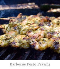 Barbecue Pesto Prawns