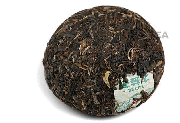 Free Shipping 2011 TAE TEA DaYi 1st Grade Tuo Bowl 100g China YunNan MengHai Organic Pu'er Raw Tea Sheng Cha