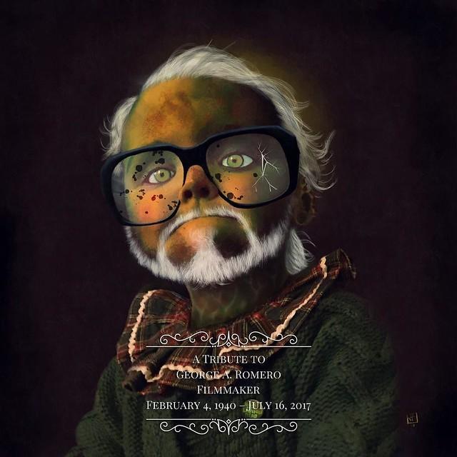 Tribute to George A. Romero (Magenta honoring George A. Romero) #tribute #tributetogeorgearomero #inlovingmemory #inlovingmemoryofgeorgeromero #georgearomero #magentahonors #typoramaapp #procreateapp #pixlr #ipadart #ipadillustration #ipadmontage #zombie