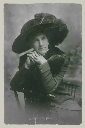Woman with Hat RPPC