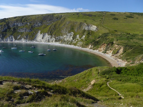 Lulworth Cove from the headland