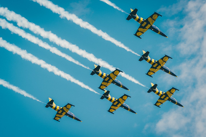 Baltic Bees Jet Team air show, Tukums, 2017