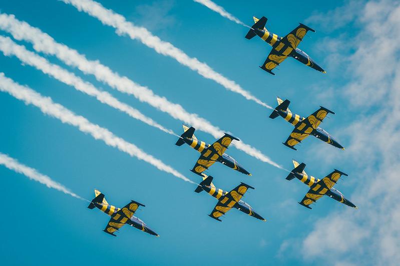 Baltic Bees Jet Team air show, Tukums, 2017