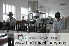 Automatic glass bottle filling alcohol filling machine 500ml