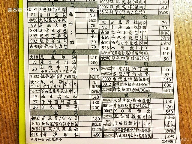鼎泰豐 菜單 台中 大遠百 小籠包 4