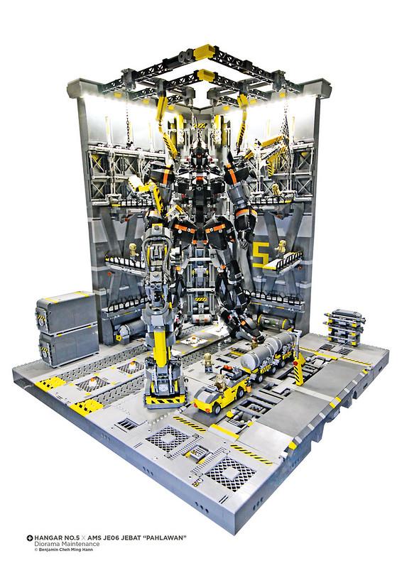 "Hangar NO.5 Diorama Maintenance x AMS JE06 JEBAT ""PAHLAWAN"""