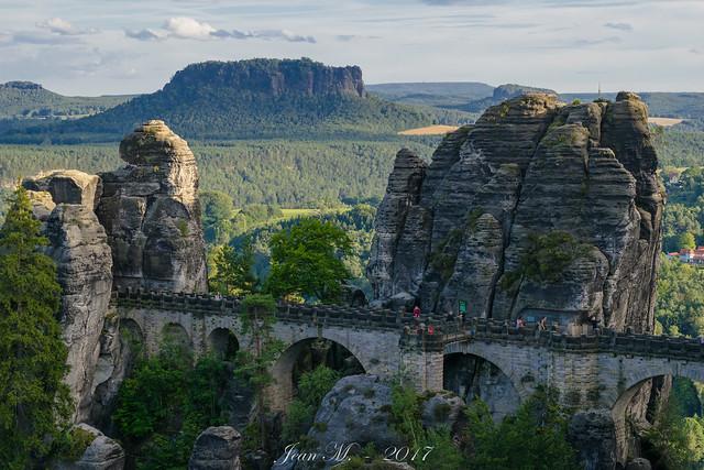 Basteibrücke und Lilienstein