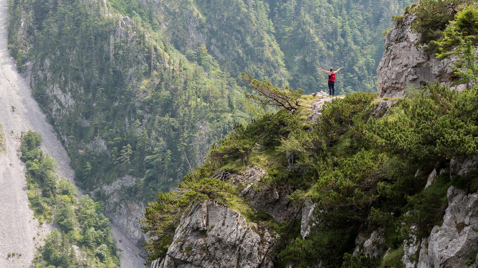 Huimat näkymät Slovenian ja Itävallan rajalla