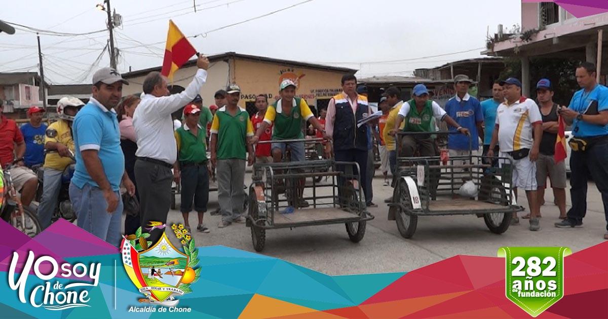 Alcaldía de Chone realizará carrera de triciclos