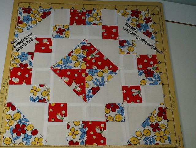 Block 3 Grandma's Kitchen,  pattern by Pat Sloan