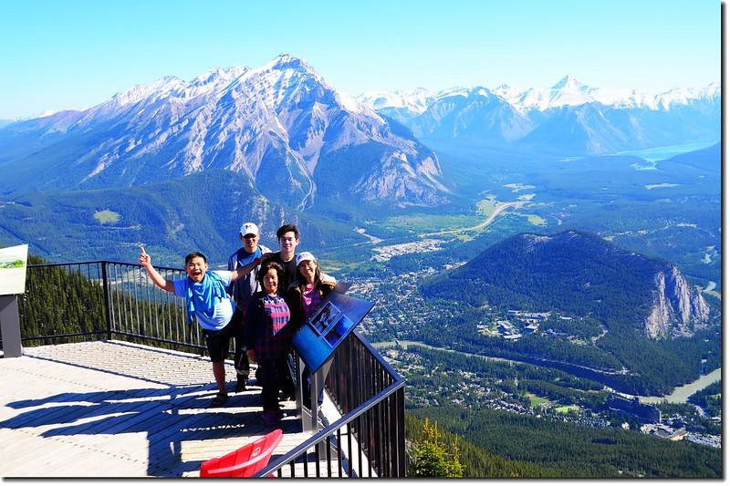 Taken from Banff Gondola Sanson Peak Observation Point 1