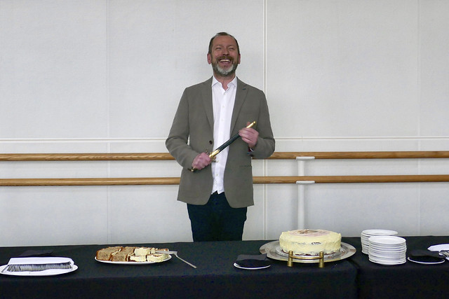 Kevin O'Hare and the Taglioni Cake. Photograph by Rachel Hollings, 2017