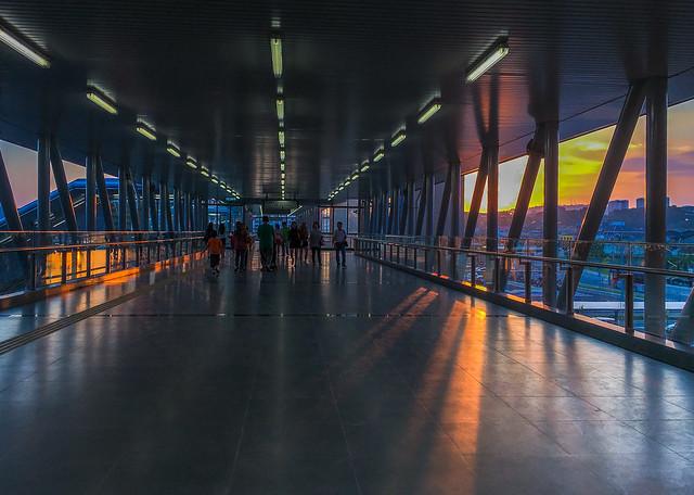 1502 - Link Bridge During Sunset