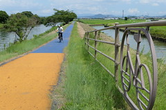 Hayamagawa bike path near Biwako