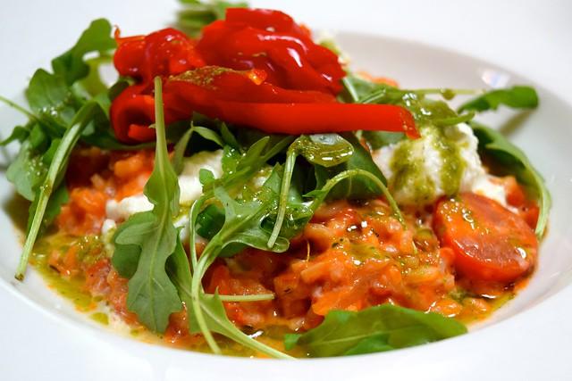 Tomato, Mozzarella, Pesto & Pepper Risotto at The Granville, Canterbury | www.rachelphipps.com @rachelphipps