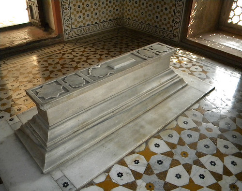 The tomb in the mausoleum of the 'Baby Taj' in Agra, India