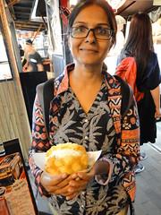 Eating Melon Pan Icecream in Dotonbori (Osaka)