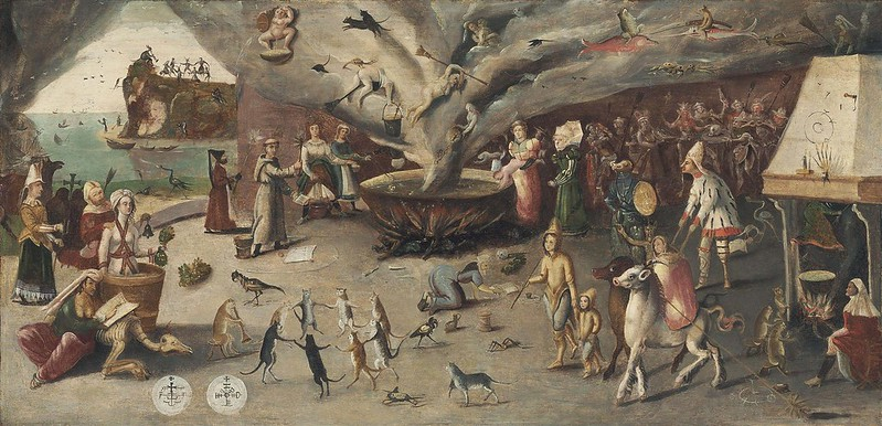 Follower of Jan Mandijn - The Witches' Cove, 16th C