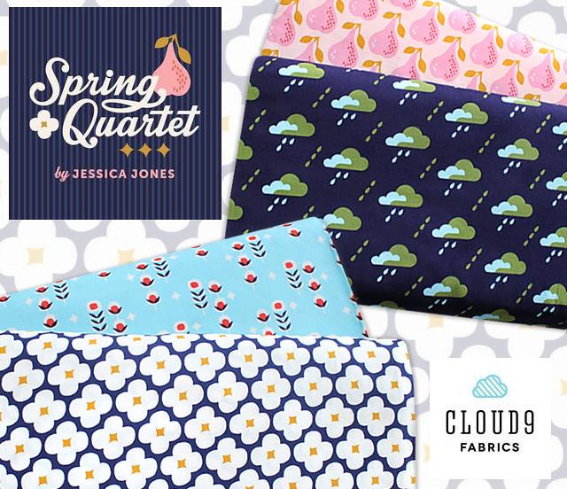 Cloud9 Fabrics Spring Quartet Collection by Jessica Jones