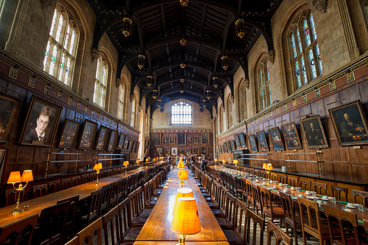 Christ Church College Dining Hall, Oxford. Featured in the Harry Potter movies