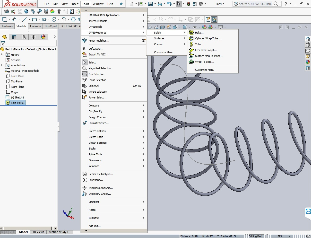 Working with GeometryWorks 3D Features V17.0.5 for SolidWorks 2017 full