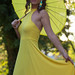 The girl with the yellow umbrella