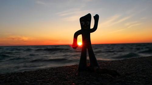 Gumby at sunset, Lake Superior. Photographer Joann Kraft