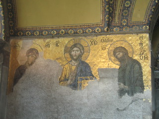 Jesus and the disciples in Istanbul Blue Mosque