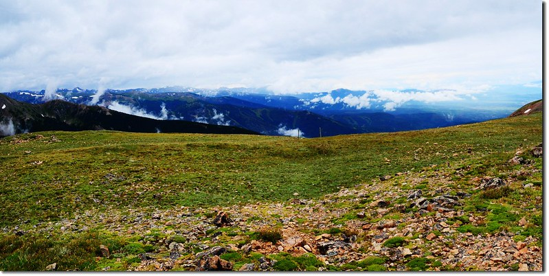 Looking West from Continental Divide at James Peak