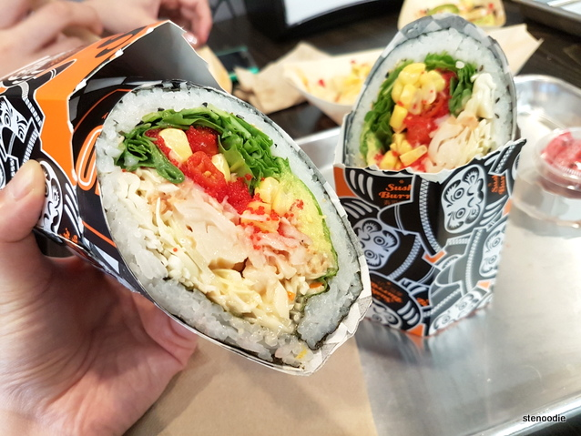 Lobster Roll sushi burrito insides