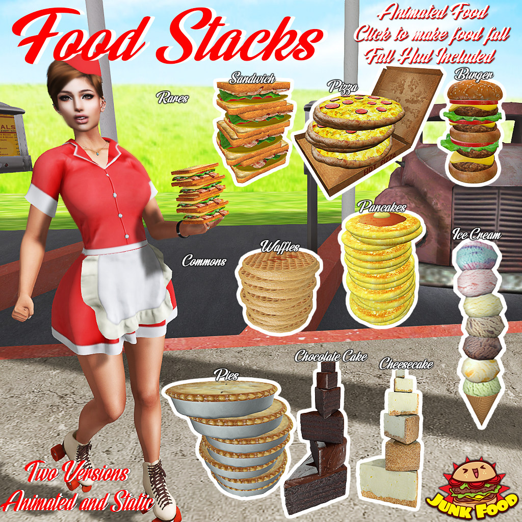 Junk Food - Food Stacks Gacha - SecondLifeHub.com