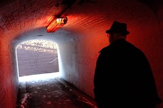 Red light in the tunnel