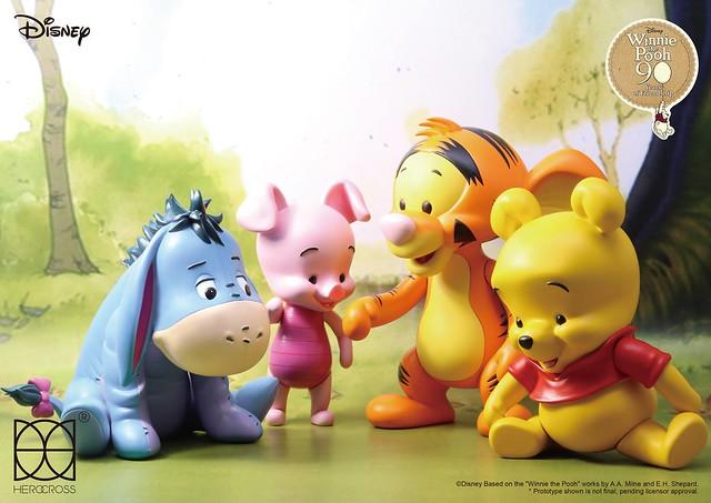 百畝森林中最可愛的夥伴們~~HEROCROSS Hyper Vinyl 系列【小熊維尼】Winnie the Pooh 療癒登場!
