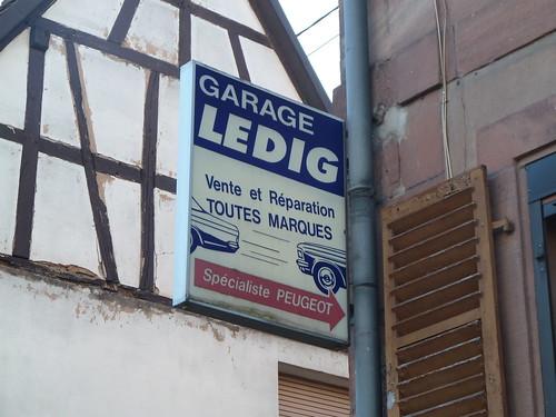 Garage Ledig – alte Reklameschild