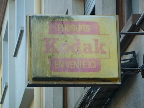 Alte Kodak-Reklame