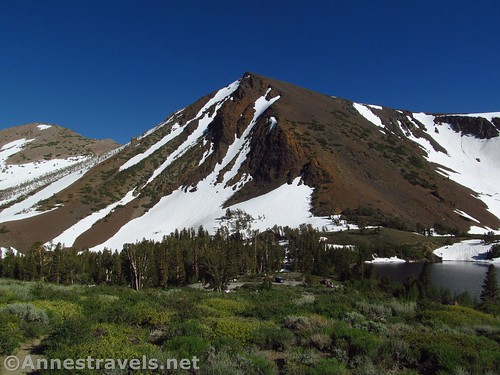 Mountains between the Virginia Lakes and Blue Lake in the Hoover Wilderness of California