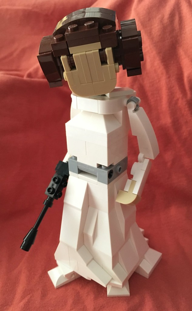 Nice LEGO Leia. Build by me, designed by Miro Dudas