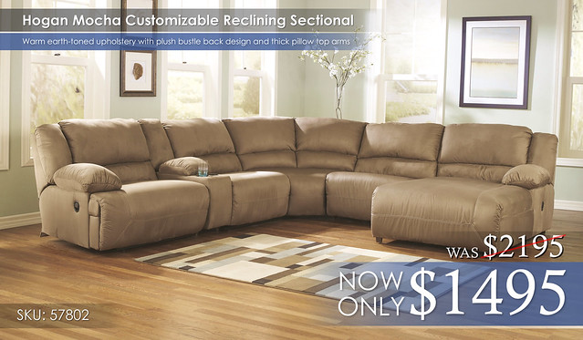 Hogan Mocha LG Sectional 57802-40-57-19-77-46-07-CLSD-SD