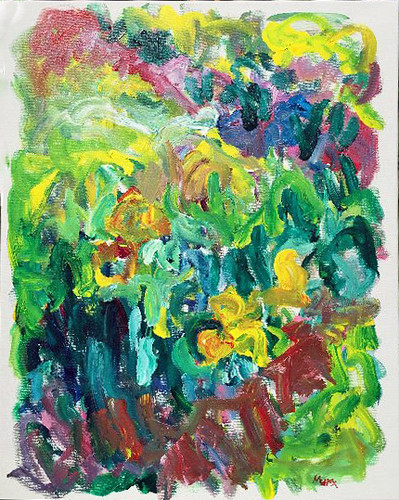 Susan Marx, Garden, 2017, 30x24 acrylic on canvas