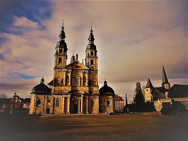 Fulda, Hesse (Germany), Kirche Sankt Salvator, duomo di Santo Salvatore, catedral de Santo Salvador, cathédrale de Saint Sauveur, cathedral of Saint Savior, wybawca (Domplatz)