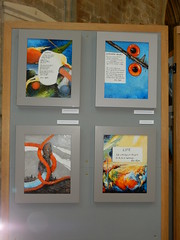 Embryo (top left), Alternative Values (top right), Catch Me If You Can (bottom left) and Life (bottom right), Frieda Hughes