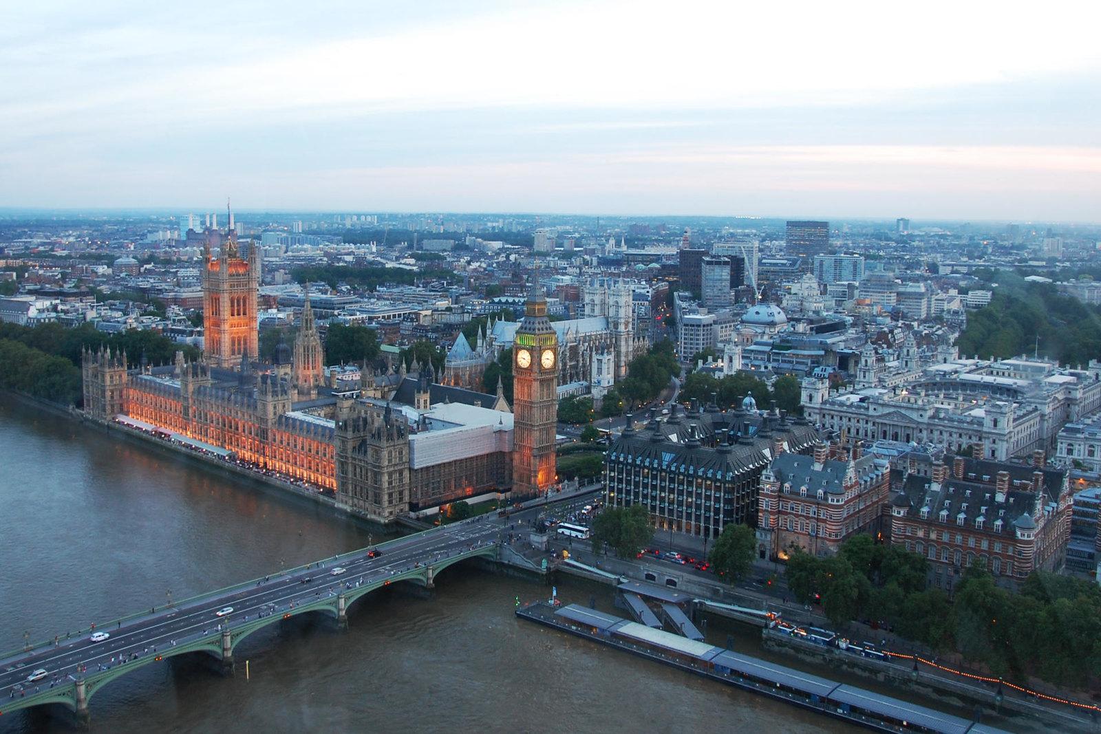 London-eye-view