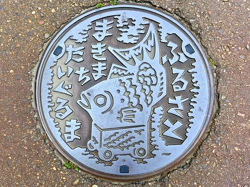 Maki Nigata, manhole cover (新潟県巻町のマンホール)
