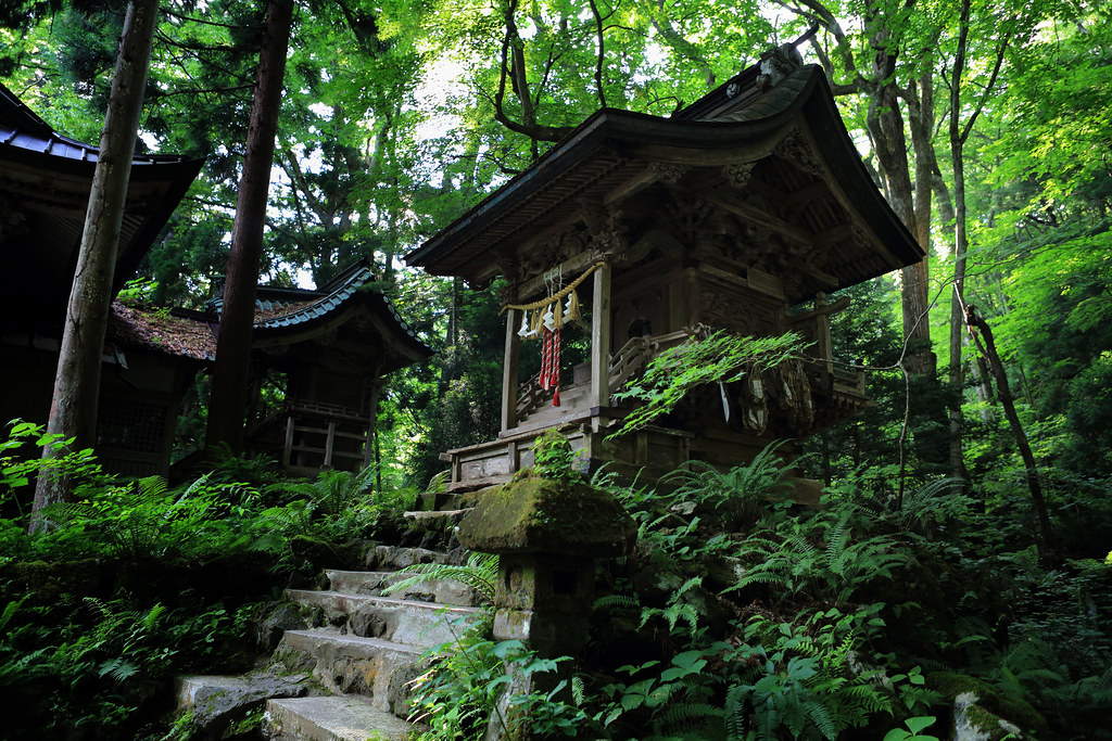 Small Shrines At Suginami Shrine, Lake Towada
