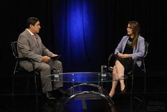 07/27/2017 - 17:25 - Quito, 26 de julio del 2017 (ANDES).- La Ministra de Salud Verónica Espinoza en diálogo con Marco Antonio Bravo, Director del Programa Ecuador No Para. ANDES/Micaela Ayala V.