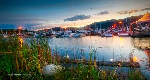 kelowna yechts sunset okanaganlake okanagan britishcolumbia canada colourfulsky water landscapelovers lanscape hdr