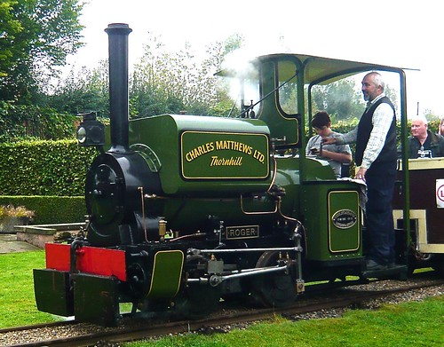 'Charles Matthews Ltd. ROGER' 0-4-0ST at the 'Statfold Barn Railway' on 'Dennis Basford's railsroadsrunways.blogspot.co.uk