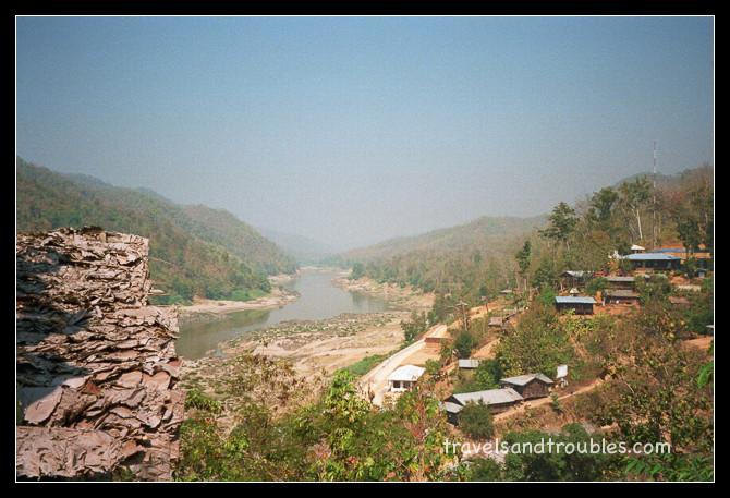 Bergdorp aan de grens met Burma