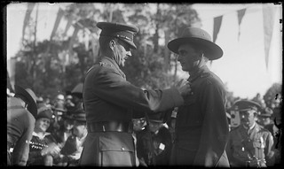 Australian Soldier being Awarded a Medal, London, Rex Hazlewood, 1918-1919
