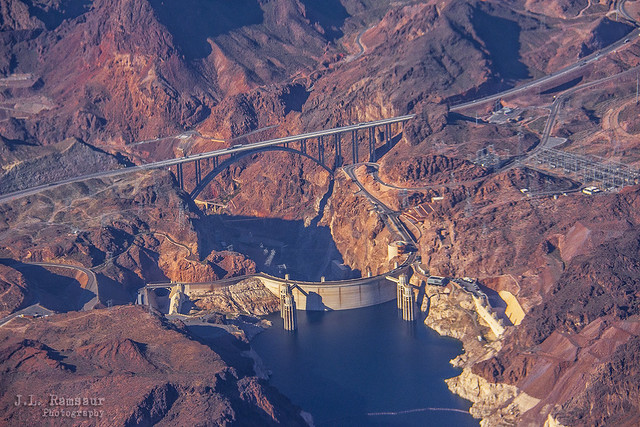 Hoover Dam & Lake Mead (from the air)